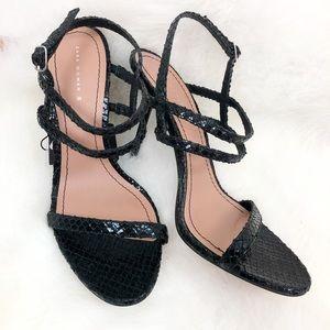 NWT Zara Stiletto Snakeskin Strappy Heel